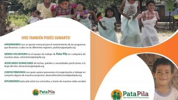 """SE VOLUNTARIO en el equipo de trabajo de """"PataPila"""""""