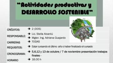 """Curso Electivo Nº E 174 """"Actividades productivas y desarrollo sostenible"""""""