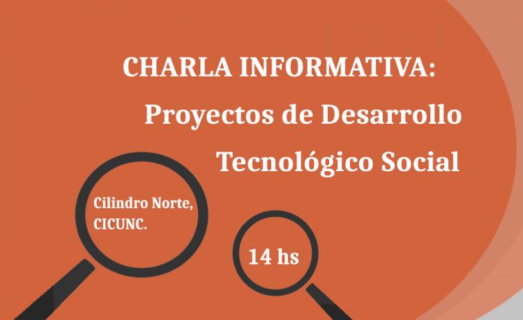 Charla Informativa sobre Proyectos de Desarrollo Tecnológico Social (PDTS)