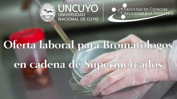 Oferta laboral para Bromatólogos en la cadena de Supermercados Átomo