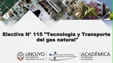"""Electiva Nº E 115  """"Tecnología y Transporte del Gas Natural"""""""