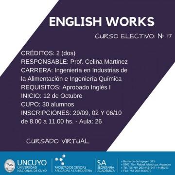 "Electiva N° 17 ""English Works"""