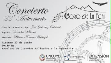 Concierto 22° aniversario Coro de la FCAI