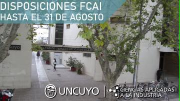 La FCAI Extiende la suspensión de asistencia al trabajo y clases no presenciales hasta el 31 de Agosto
