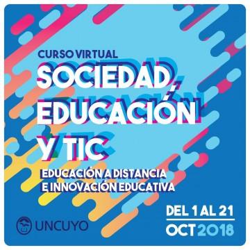 """Curso """"Sociedad, educación y TIC"""""""