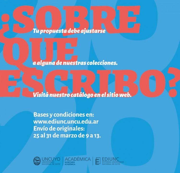 EDIUNC LANZA LA CONVOCATORIA ORDINARIA 2020