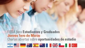 Charlas sobre oportunidades internacionales para estudiantes y egresados