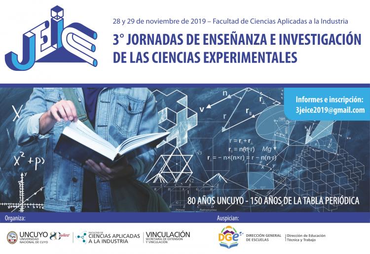 III Jornadas de Investigación y Enseñanza de las Ciencias Experimentales