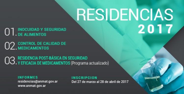 Llamado a Concurso en Residencia Programa A.N.M.A.T 2017