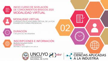 Inicio Curso de nivelación de conocimientos básicos 2020 MODALIDAD VIRTUAL