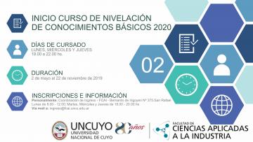 Inicia Curso de nivelación de conocimientos básicos 2020