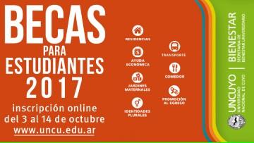 Convocatoria a Becas para Estudiantes 2017