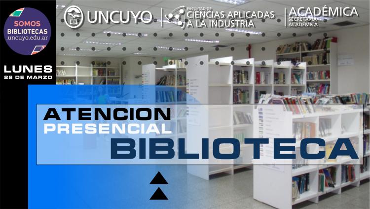 Vuelve la atención presencial en la biblioteca