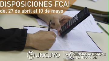 Disposiciones adoptadas por la FCAI del 27-04 al 10-05