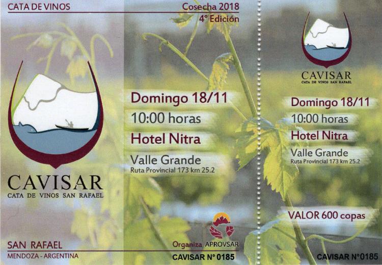 La FCAI participa de la IV Edición Cavisar 2018 – Cata de vinos de San Rafael -
