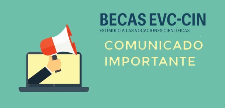 Becas EVC-CIN. Acta Admisibilidad. Convocatoria 2017.