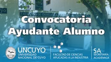 Concurso para un cargo de Ayudante de Segunda Alumno en Química Inorgánica
