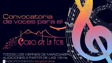 Audiciones 2021 - Coro institucional de la FCAI UNCuyo