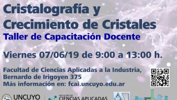 Taller de capacitación docente sobre cristalografía y crecimiento de cristales