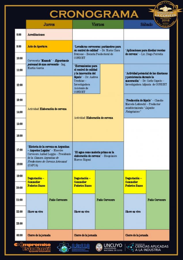 Cronograma Jornada