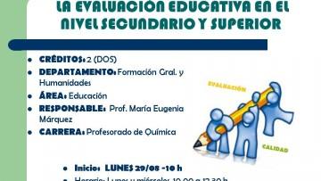 Curso electivo 154 - La evaluación educativa en el nivel secundario y superior