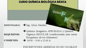 """Curso de """"Química Biológica Básica"""""""