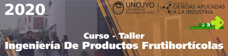 Curso - Taller Ingeniería De Productos Frutihortícolas