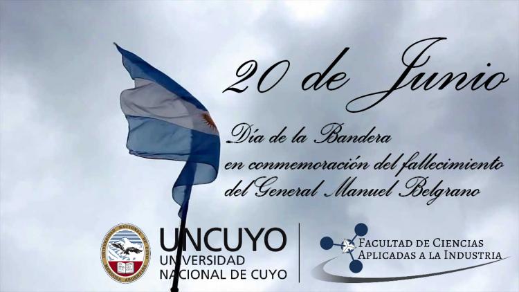 Invitación al izamiento de la Bandera Nacional en la Facultad de Ciencias Aplicadas a la Industria