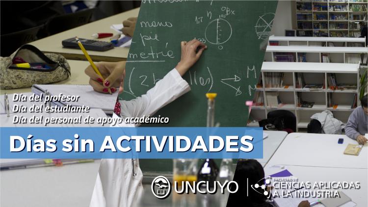 Días sin actividades académicas/administrativas