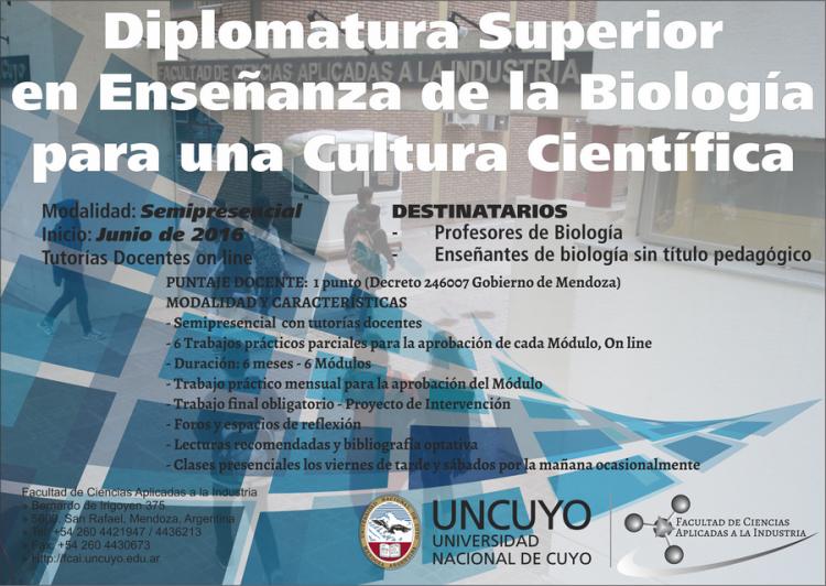 Diplomatura Superior en Enseñanza de la Biología para una Cultura Científica