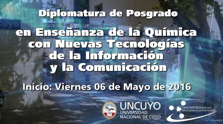 Diplomatura de Posgrado en Enseñanza de la Química con Nuevas Tecnologías de la Información y la Comunicación