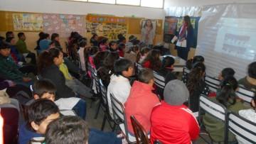 Charla de Alimentos Seguros en la Escuela Bufano de la Villa de 25 de Mayo
