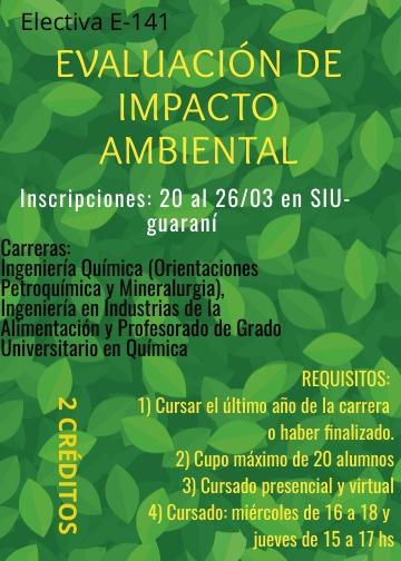 """E-141""""Evaluación de Impacto Ambiental"""""""