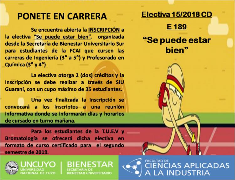 Electiva E 189 - Se puede estar bien -