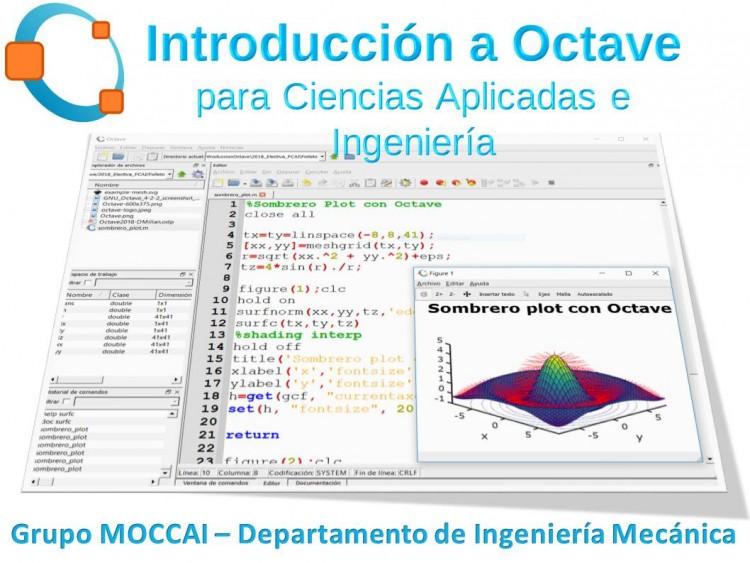 "Electiva E 188 ""Introducción al Octave para Ciencias Aplicadas e ingeniería"""