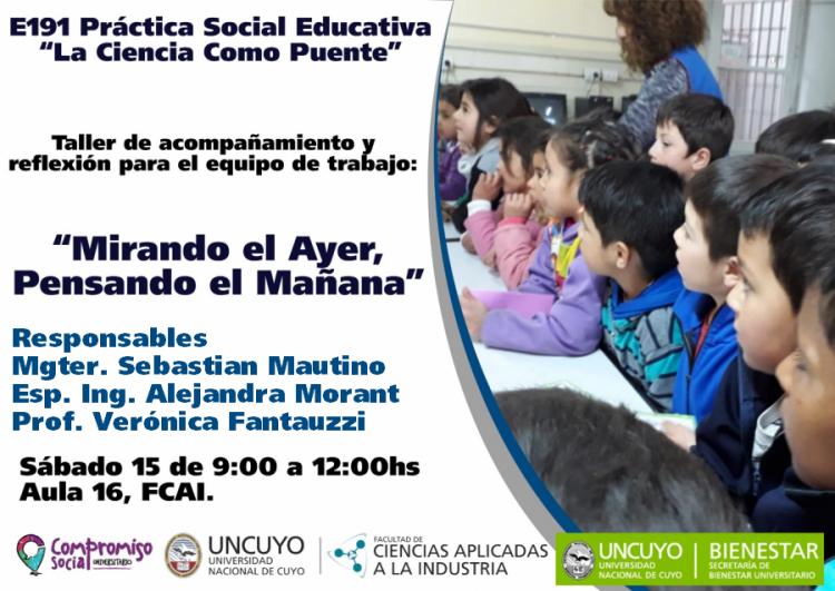 """E191 práctica social educativa """"LA CIENCIA COMO PUENTE"""""""