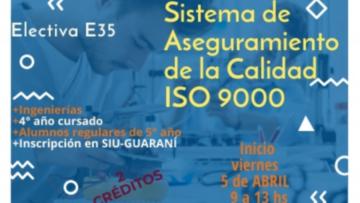 """E-35""""Sistema de Aseguramiento de la Calidad ISO 9000"""""""