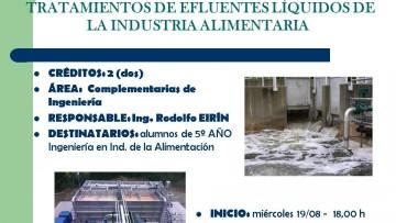 """Electiva N°163 """"tratamiento de efluentes líquidos de la industria Alimenticia"""""""