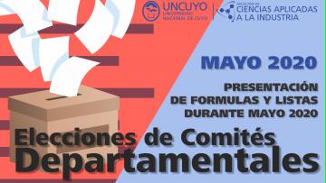 Elecciones de Comités Departamentales