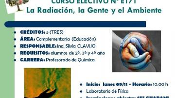 Curso Electivo Nº 171 - Radiación, la Gente y el Ambiente