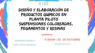E183 Diseño y Elaboración de Productos Químicos en Planta Piloto (Suspensiones coloreadas, pegamentos y resinas)