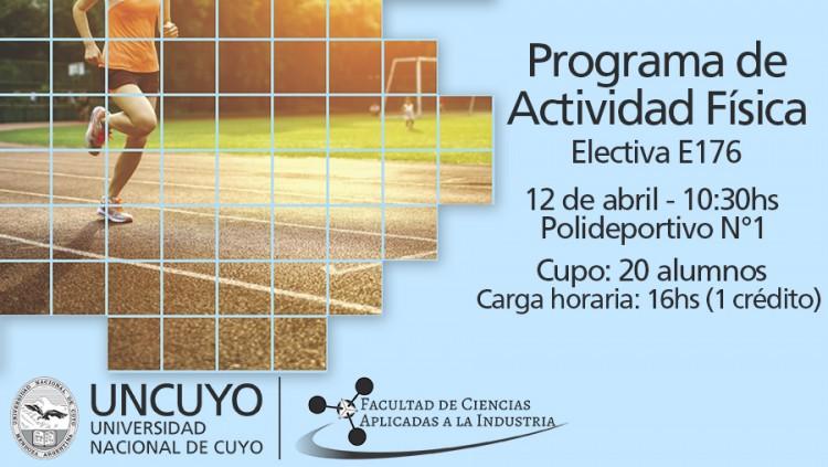 Electiva N° E-176 Programa de actividad física para estudiantes universitarios