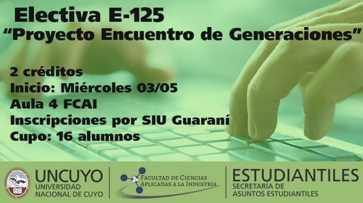Electiva E-125 \Proyecto Encuentro de Generaciones\