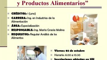 """CURSO ELECTIVO Nº E 49 """"Análisis de Aditivos y Productos Alimentarios"""""""
