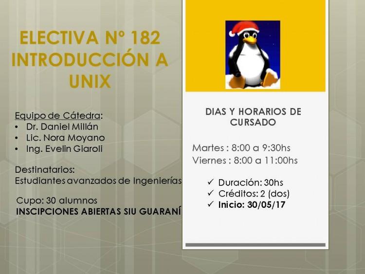 Electiva Nº182 Introducción a UNIX