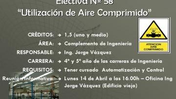 """Electiva Nº 58 """"Utilización de Aire Comprimido"""""""