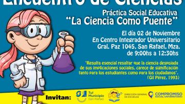 """Encuentro de Ciencia, Práctica Social y Educativa :""""La Ciencia como Puente"""""""