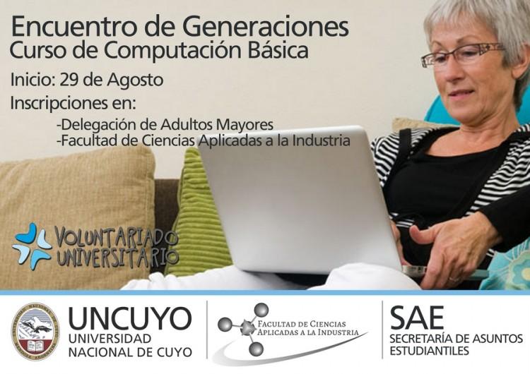 """Cursos Gratuitos Voluntariado Universitario """"Encuentro de Generaciones - Informática para Adultos Mayores"""""""