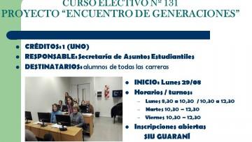 """Curso Electivo 131 - Proyecto Encuentro de Generaciones"""""""
