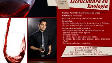 Licenciatura en Enología - Abierta -